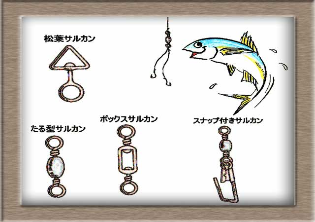 釣りの接続金具の役割とは in 小豆島